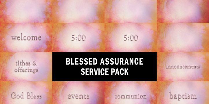 Blessed Assurance Service Pack Preview